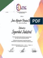 Diplomado de Seguridad Industrial Edutec - JUAN ALEJANDRO URQUINA TOVAR