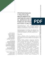 Profesionales y Política de Medicamentos Antineoplásicos en El Servicio de Salud