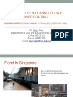 Unsteady Open-channel Flow B River Routing