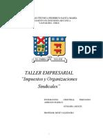 Informe Impuestos y Organizaciones Sindicales