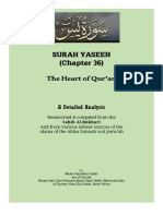 Surah Yaseen - A Detailed Analysis