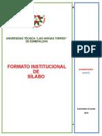 Silabo Primer Nivel 19 Noviembre 2018- 22 de Enero 2019