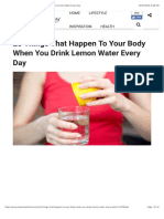 25 Things That Happen to Your Body When You Drink Lemon Water Every Day
