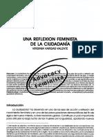 VARGAS, V. - Una Reflexión Feminista de La Ciudadanía
