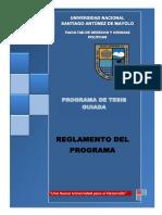 Reglamento Del Programa de Tesis Guiada-2019 Modificado
