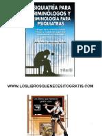 Psiquiatria y Psicologia Para Criminilogos Especial Para Tema Imputabilidad