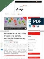 Formatos de Narrativa Transmedia