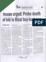 Malaya, July 10, 2019, House urged Probe death of kid in Rizal buy-bust ops.pdf