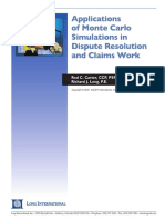 Long Intl Applications of Monte Carlo Simulations in Dispute Resolution