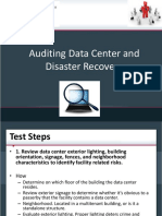 Auditing Data Center & Disaster Recover
