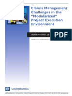 Long Intl Claims Mgmt Challenges in the Modularized Proj Exec Environment
