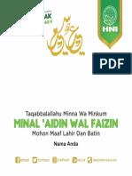 Ucapan Idul Fitri 2019