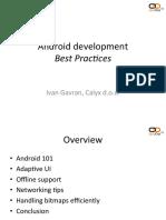 Android Development Best Practices Ivan Gavran Calyx
