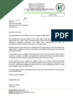 Letter to CHR