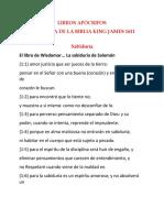 Apocrypha Wisdom in Spanish Libros Apócrifos
