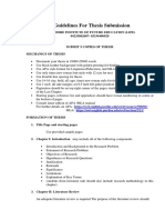 Thesis Submission Guidelines and Starting Pages LIFE Revised