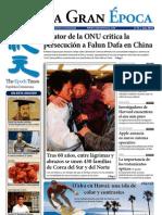 La Gran Epoca, Rep. Dominicana, edición de Noviembre 2010