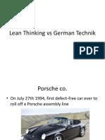 Lean Thinking vs German Technik