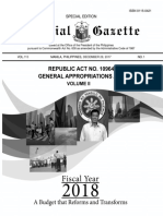 General Appropriations Act 2018