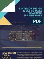4 Interior Design Ideas to Make Beautiful SPA Interiors