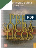Los presocráticos - García Bacca