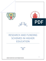 Research and Funding Schemes in Higher Eduction