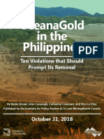Oceana Gold in the Philippines