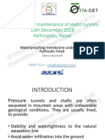Water Proofing in Tunnels