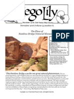 November-December 2010 Sego Lily Newsletter, Cedar City Native Plant Society