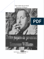 Dulce Pájaro de Juventud de Tennessee Williams