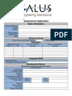 Salut Engineering Application Form