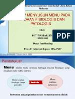 Prof. in. .Prinsip Menyusun Menu Pada Keadaan Fisiologis Dan Patologis