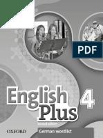German Wordlist for English Plus 4 second edition