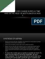 Chem Ia Aspirin