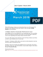 Townscript Product Update