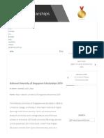 National University of Singapore Scholarships 2019 - Scholarships for International Students 2019