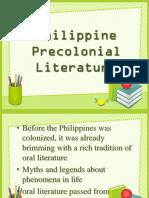 Philippine Precolonial Literature