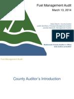 Fleet Fuel Management Audit