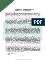 Bobbio - Democracia Representativa y Democracia Directa