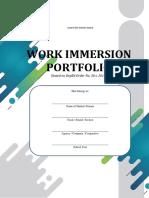 SHS Work Immersion Portfolio (Final)