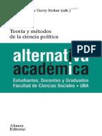 Marsh y Stoker - Teoría y Métodos de La Ciencia Política, Introducción, Págs. 13-25