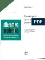 Panebianco - Modelos de Partidos, Cáps. 1 y 4