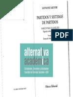 Sartori - Partidos y Sistemas de Partidos, Cáps. 1, 4 y 5