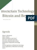 Blockchain Technology-Bitcoin and Beyond