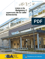 Nuevo acceso Belgrano C + Apertura de Echeverría