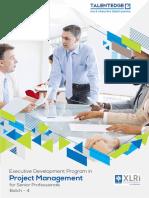 Project Management XLRI Brochure 4