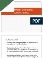 FÁRMACOS AGONISTAS ADRENERGICOS