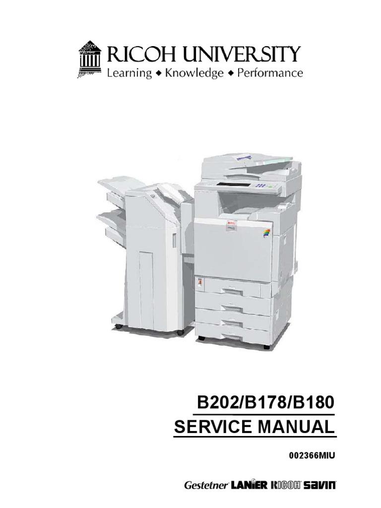 ricoh b202 b178 b180 3228c 3235 3245 service manual image scanner rh scribd com Ricoh SP 5210SF Ricoh Aficio Printer