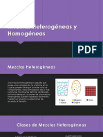 Mezclas Heterogéneas y Homogéneas