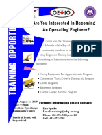 Are you interested in becoming an Operating Engineer (August 1st 2019)